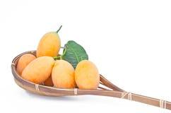 Prune mariale jaune douce, mangue de prune Images libres de droits