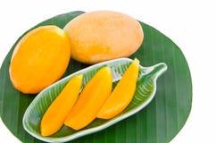 Prune mariale jaune douce, mangue de prune Image stock