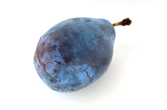 Prune plum. Isolated on white background Stock Photo