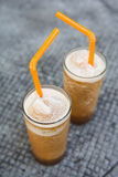 Prune smoothie drink for health Royalty Free Stock Photos