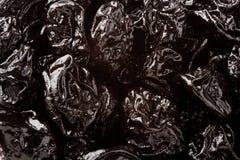 Prunes. Bunch of Prunes photographed as texture Stock Photo
