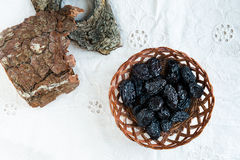 Prunes from above Stock Photo