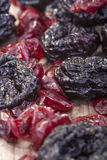 Prunes and cranberries Royalty Free Stock Photos