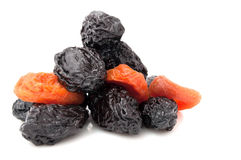 Prunes and Dried Apricots Royalty Free Stock Photos