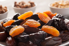 Prunes with dried apricots and dates Royalty Free Stock Image
