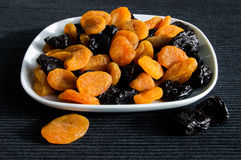 Prunes and dried apricots Stock Image