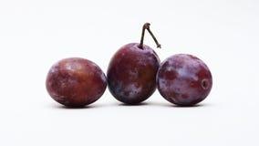Prunes et pommes juteuses en détail Image stock