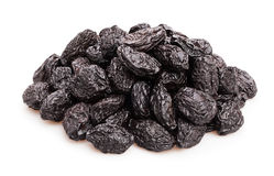 Prunes. Group on white background Royalty Free Stock Photo