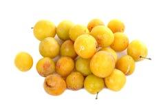 Prunes jaunes Photographie stock libre de droits