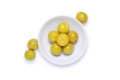 Prunes jaunes Photos stock