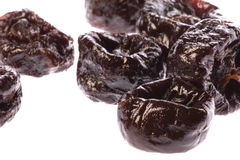 Prunes Macro Isolated Royalty Free Stock Photography
