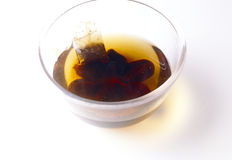 Prunes marinating in tea. Food, gastronomy, cuisine,cookery Stock Photos
