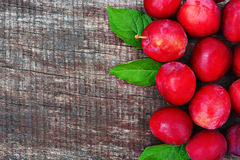 Prunes rouges images stock