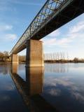 pruniers för pont för bouchemainede france Royaltyfria Bilder