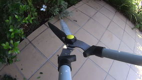 Pruning Shears POV 2 Stock Photography