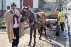 Pruning of the vineyards ritual in Bulgaria Stock Image