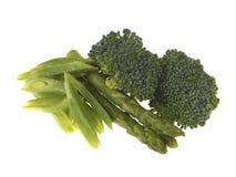 Prunkbohnen Brokkoli und Spargel Lizenzfreies Stockfoto