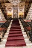 Prunktreppe am Achilleions-Palast auf der Insel von Korfu Griechenland errichtet von der Kaiserin Elizabeth von Österreich Sissi Stockfotografie