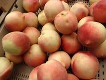 Prunus persica 'Snow Giant White Peach' Stock Image