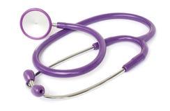 Pruple stethoscope Royalty Free Stock Photos