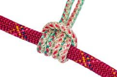 Prusik knot closeup Stock Image