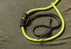 Prusik loop - knot. Stock Images