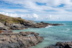 Prussia Cove in Cornwall Royalty Free Stock Photo