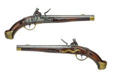 Prussian antique flintlock pistol Stock Photo