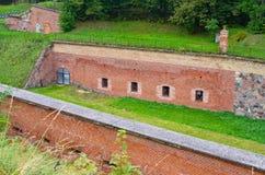Prussian fästning i Gizycko, Polen Arkivfoto