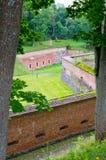 Prussian fästning i Gizycko, Polen Arkivfoton