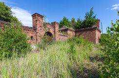 Prussian fortress ruins in Gdansk. Stock Photos