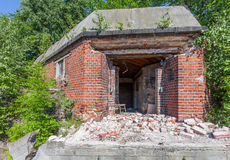 Prussian fortress ruins in Gdansk Stock Photo