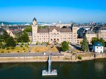 Prussian regering Preussisches Regierungsgebaude, Koblenz arkivbild