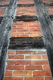 Prussian wall. Prussian brick and wooden wall Royalty Free Stock Photos