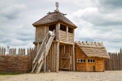 Pruszcz的Gdanski Faktory村庄 免版税图库摄影