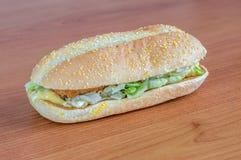 McDonald`s Chikker sandwich. Stock Photography