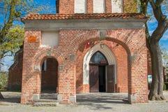 PRUSZCZ GDANSKI, POLEN - Maj 3, 2017: Exaltations av korsar kyrkan Arkivfoton
