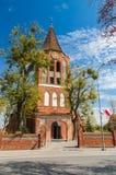 PRUSZCZ GDANSKI, POLEN - Maj 3, 2017: Exaltations av korsar kyrkan Arkivbild