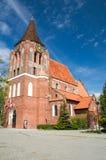 PRUSZCZ GDANSKI, POLEN - Maj 3, 2017: Exaltations av korsar kyrkan Arkivbilder