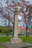 PRUSZCZ GDANSKI, POLEN - Maj 3, 2017: Monument till hjältarna av befrielsen Fotografering för Bildbyråer