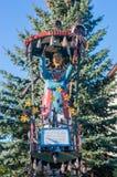 PRUSZCZ GDANSKI, POLEN - Maj 1, 2017: Staty av Mary, moder av Jesus Christ på Pruszcz Gdanski Royaltyfri Bild