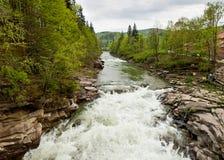 Prut River in Yaremche, Carpathians, Ukraine Stock Photos