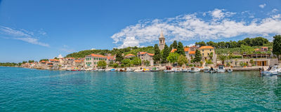 Prvic Luka panorama Royalty Free Stock Images