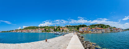 Prvic Luka panorama Royalty Free Stock Photography