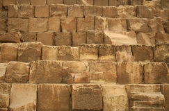 Pryamid Blocks. Details of the Stone Blocks of the Great Pyramid at Giza, Cairo, Egypt Royalty Free Stock Photo