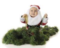 Pryda med pärlor-Älska Santa Fotografering för Bildbyråer