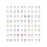 Pryda med pärlor färgrik bakgrund för godisen, mjuk färg Royaltyfri Bild