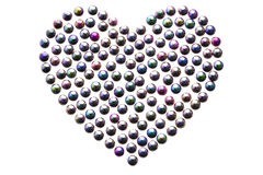 Pryda med pärlor hjärta Arkivfoton