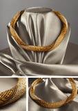 Pryda med pärlor repet, kärna ur pärlor, pärlhalsband royaltyfri foto