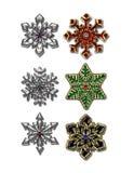 prydd med ädelsten snowflake Arkivfoton